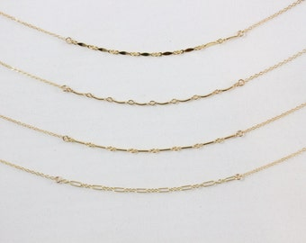 Bonding with the Chains Necklace, 14k Gold Filled or Sterling Silver Layering Accent Necklace