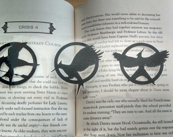 Hunger Games Inspired Bookmark DIY Handcut Silhouette Custom Made Emblem Lit literature Katniss MockingJay