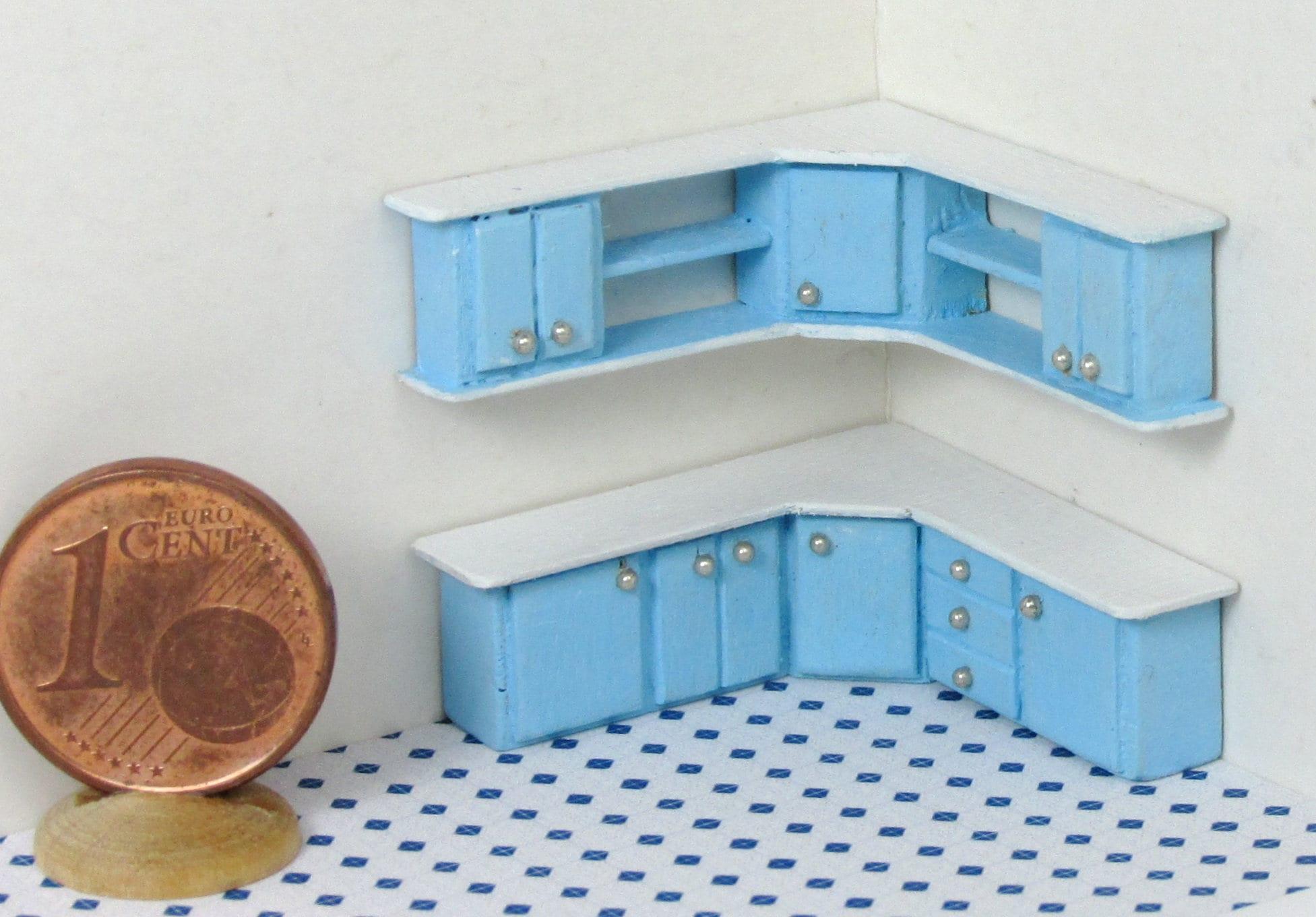 Mobili per cucina angolare realizzati a mano in legno con for Mobili cucina regalo