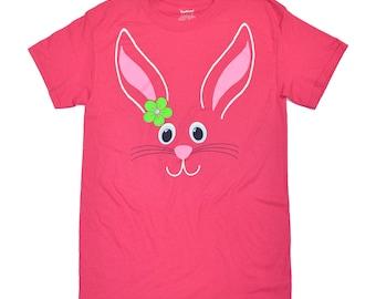 Tees2urdoor Pink Easter Bunny T-Shirt