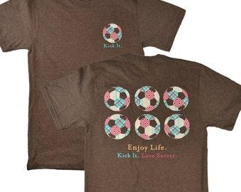 Kick It Enjoy Life Soccer Brown T-shirt - Was 19.95 NOW 11.97