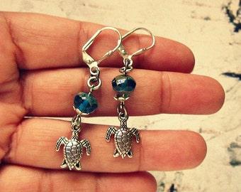 Sea Turtle Earrings, Sea Turtle Jewelry, Sea Turtle Gifts, Sea Turtle Accessories, Sea Life Jewelry, Sea Creature Jewelry, Sea Life Earrings