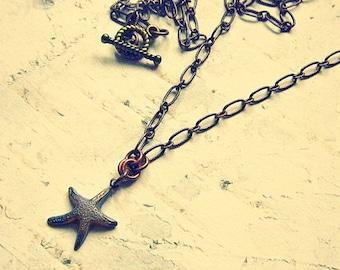 Starfish Necklace, Starfish Jewelry, Starfish Pendant Necklace, Dainty Necklace, Dainty Jewelry, Dainty Charm Necklace, Dainty Jewlery