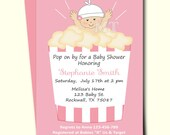 Items similar to ready to pop baby shower invitation cute popcorn ready to pop baby shower invitation cute popcorn babyshower invitations girl baby shower printable filmwisefo