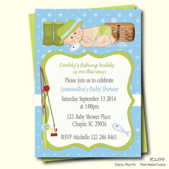 Bebé ducha invitación-pesca Baby Boy ducha invita a peces tema | Etsy