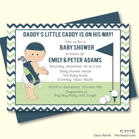 Moderna bebé ducha invitación Golf Par te de Golf invitan a | Etsy