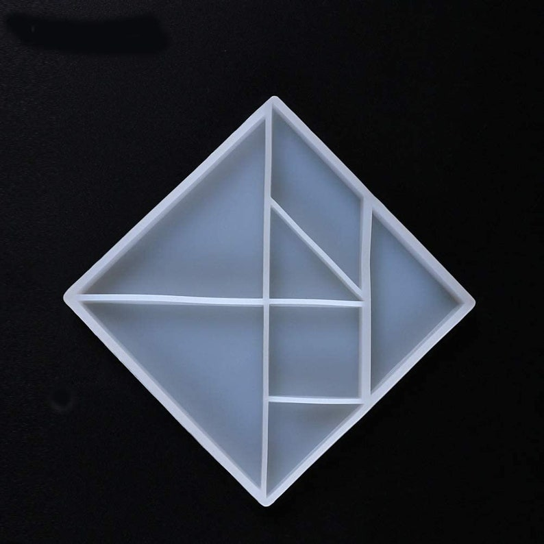 3D Tangram Silicone Mold Pendant Casting Silicone Resin Mold Mold Crystal Beading DIY Jewelry Making Craft Cake Mold Tool