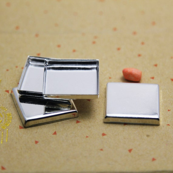 25mm Round Bezel Setting-25mm Round Bezel Cups-Blank Bezels  for 25mm Cabochon-1 inch High Wall Bezel-3mm depth-without connector-Choose Qty