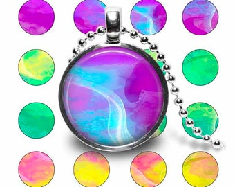 Background Circles for Tecre 1 Inch Button Machine, Digital Download Button Images, 1.313 Cut Line Shades of Yellow - Green - Purple - Pink