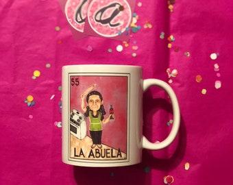 Abuela's Kitchen Loteria Mug