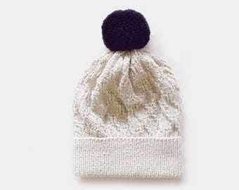 KNITTING PATTERN • Womens Hat Knitting Pattern • Beanie Knitting Pattern