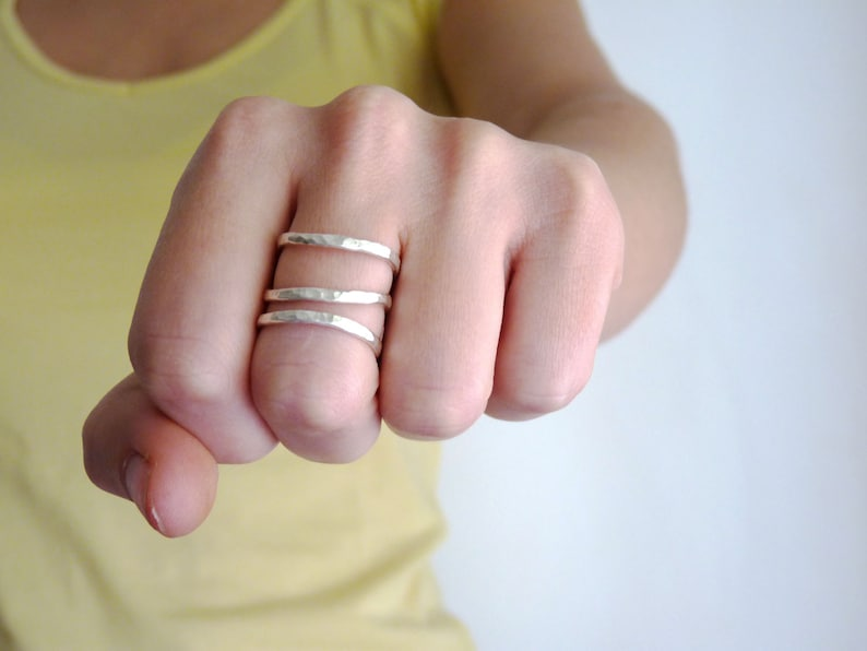 Adjustable Minimalist Triple Dainty ring 21st birthday gift ideas for bestfriend delicate ring for her