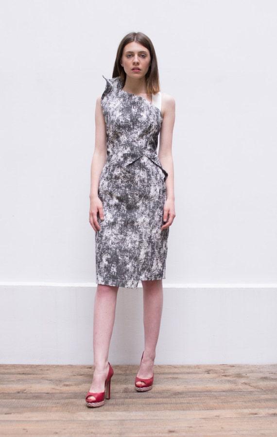 50ca48676d3 SALE 30% Off Grey Midi Dress Gray Wedding Off Shoulder