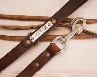 Dog Leash, Leather Dog Leash, Dog Leash Leather, Leather Dog Leash, Strong Leather Dog Leash, Personalized dog leash, Dog name plate.