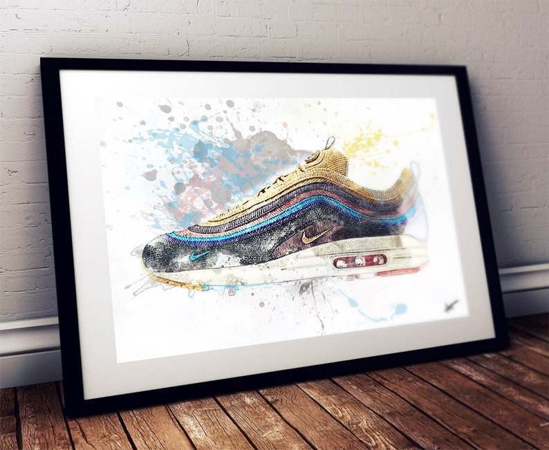 Wotherspoons Air Max 97 Nike Trainer Sneaker Wall Art Print Poster Original Design