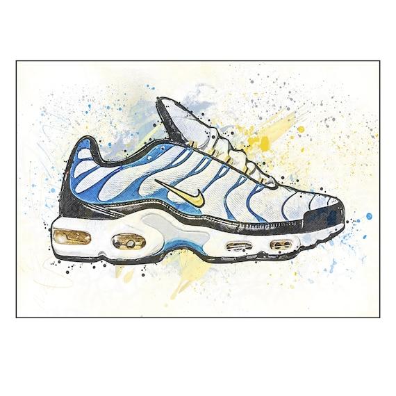 Nike TN Paradise / Formateur / Sneaker Wall Art Print / Poster Original Design