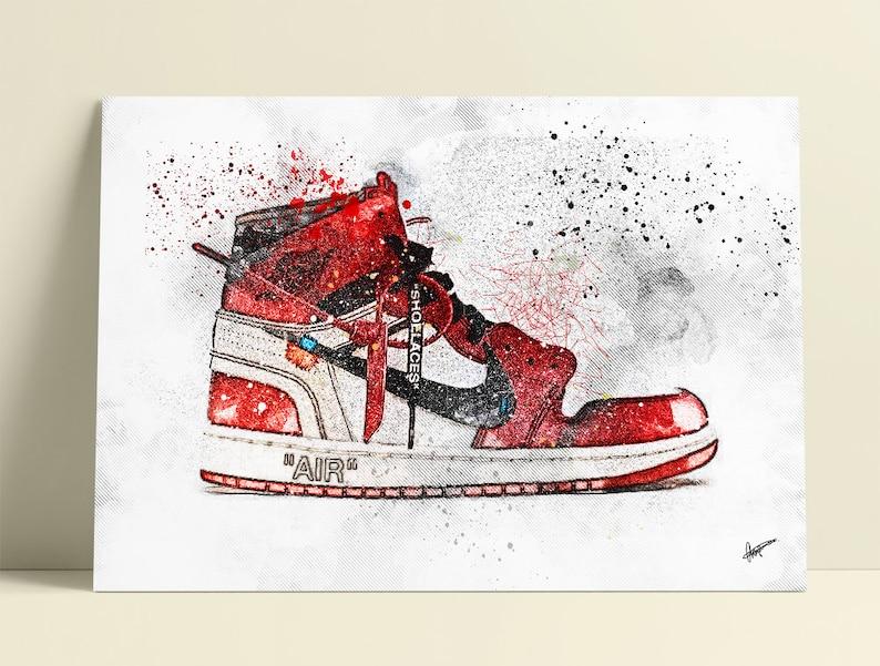 3e223dc324b3 Off White Air Jordan 1   Nike   Trainer   Sneaker Wall Art