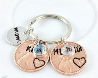 Mom gift from daughter for Mothers Day Gift for mom engraved, Gift for mom from daughter gift, Kids name and birthdate - Up to 5 kids names!
