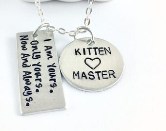 Kitten bdsm kitten collar Master and slave Sir daddy Bdsm owned Property of Bdsm jewlery Daddy dom submissive necklace Dominatrix