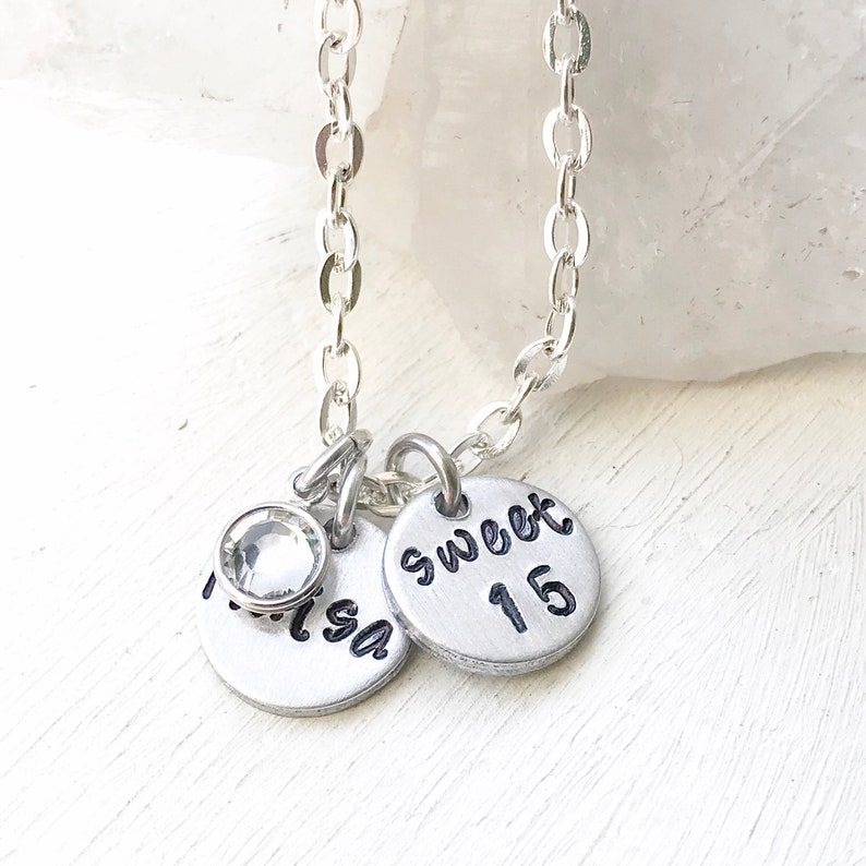 Birthday gifts for 15 year old teenage girls  Name necklace image 0