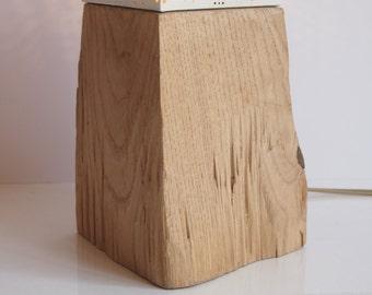 Lampe : les grands socles en chataigner fendu
