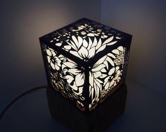 """Lampe, Série «fleurs des alpes"""""""