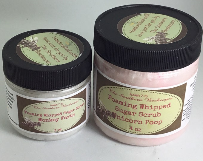 Foaming Whipped Sugar Scrub