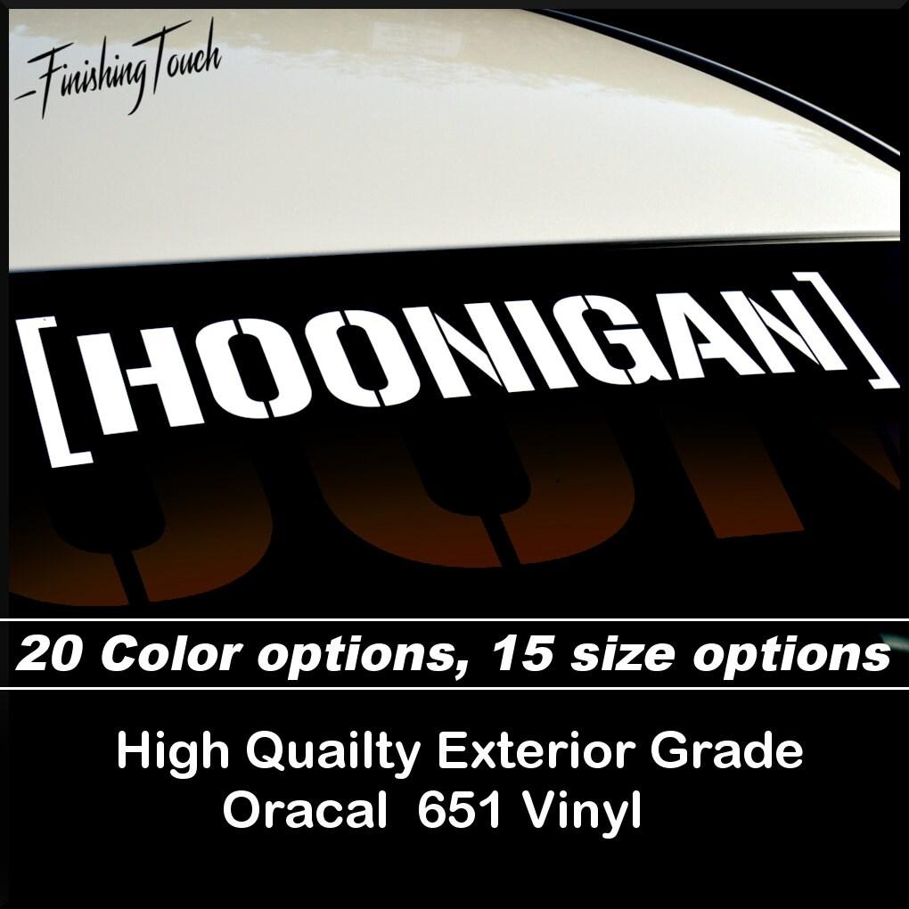 Hoonigan decal vinyl windshield sticker ken block racing drift etsy
