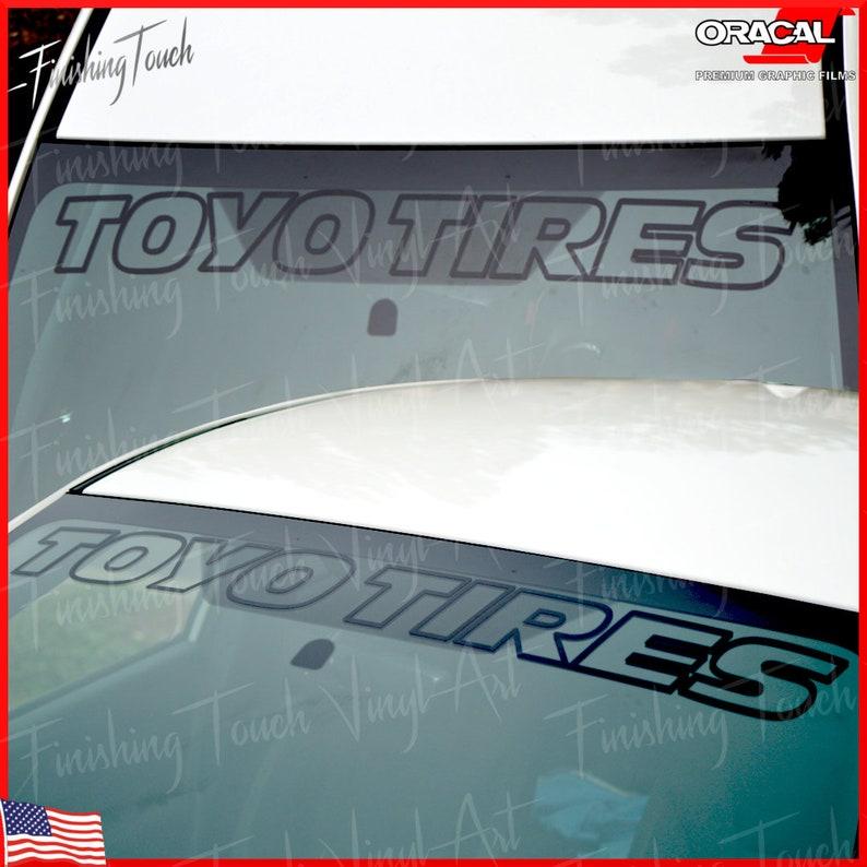 "Toyo Racing Vinyl Window Decal Sticker 7/"" x 3.25/""  Choose Your Color"