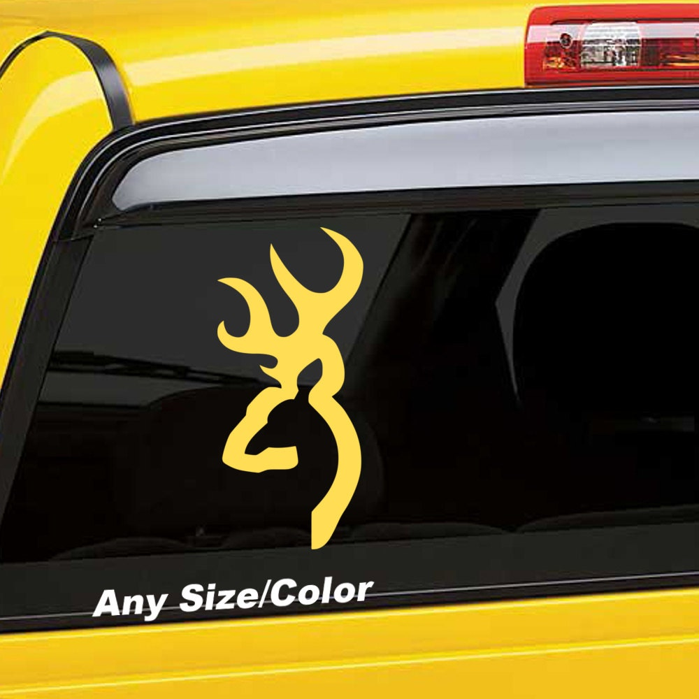 Browning Windshield Decal White 38x 4 Single
