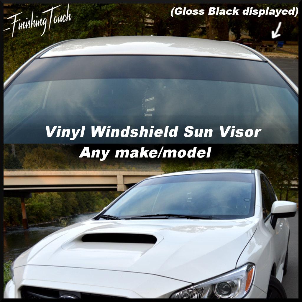Vinyl Windshield Sun Visor Window Shade Vinyl Banner Decal