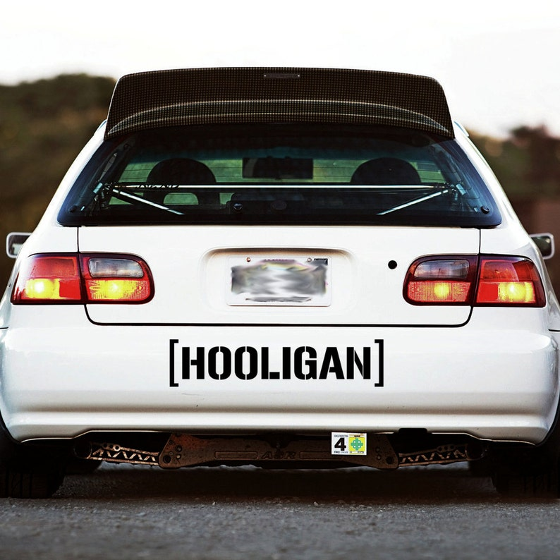 HOOLIGAN  Small to Large Car Window Stickers Decals