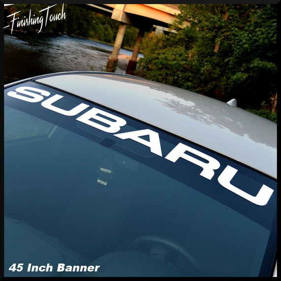 Subaru Vinyl Windshield Banner Sticker Decal Graphic Many