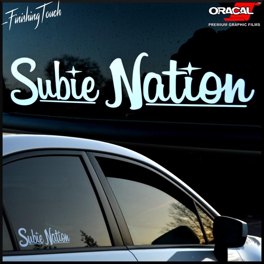 Subie nation custom vinyl windshield decal sticker for subaru etsy