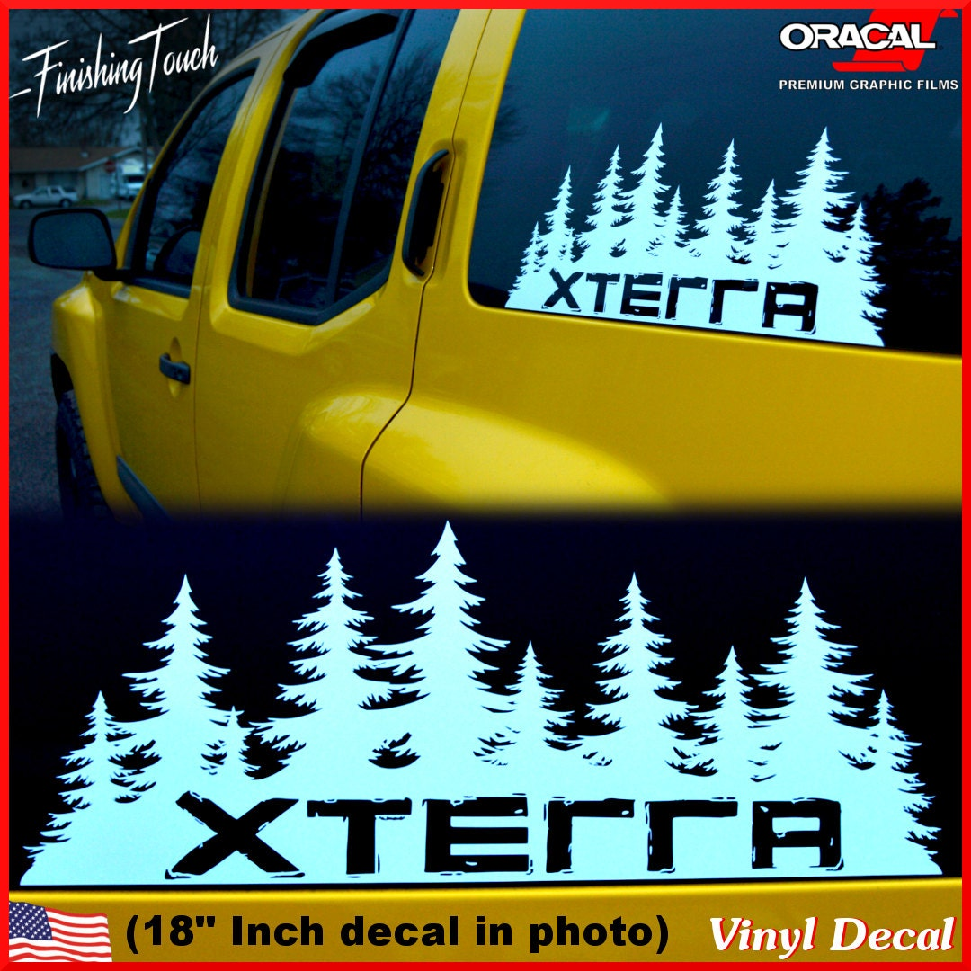 Nissan xterra decal custom vinyl forest silhouette graphic etsy