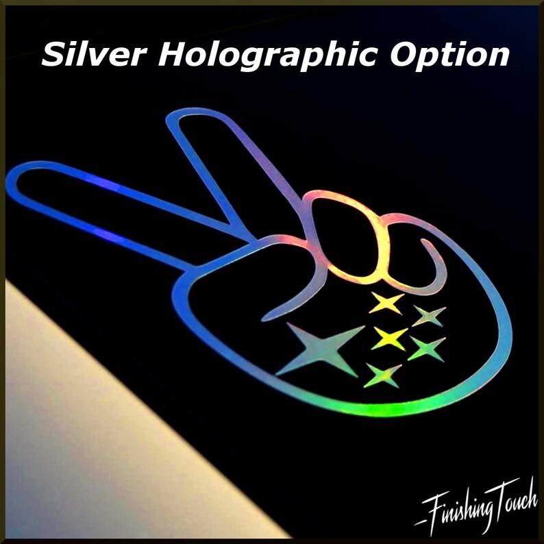 Subaru Peace sign hand wave decal sticker graphic custom wrx sti subaru  logo Sticker Holographic oil slick