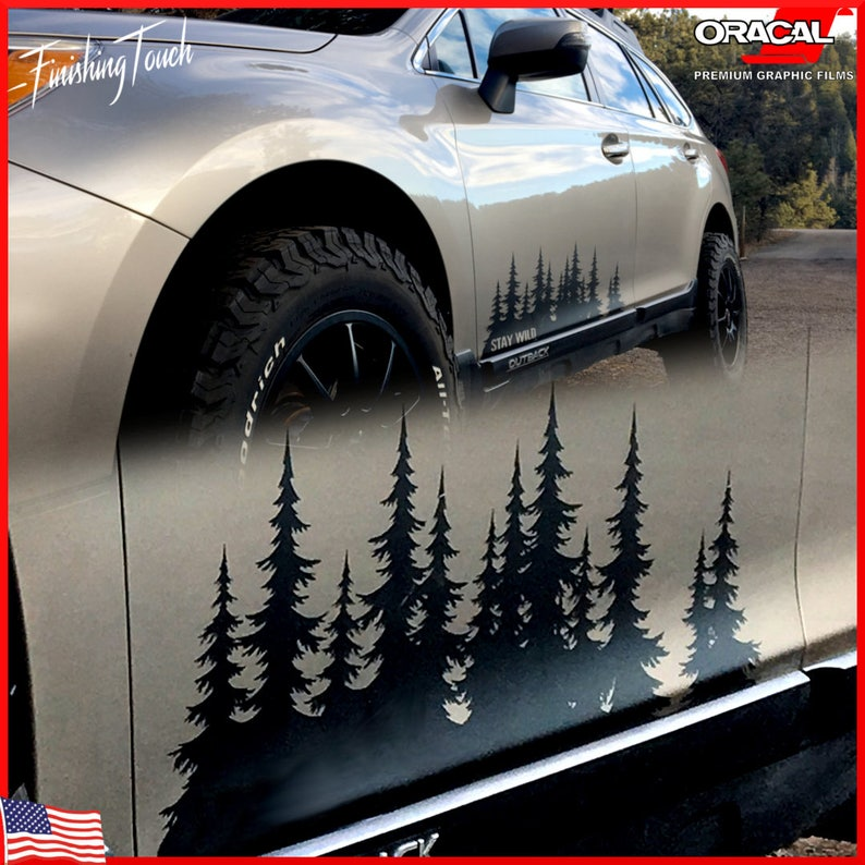 Mountain Range Sticker decal graphics car truck jeep PNW JDM vinyl tree forest