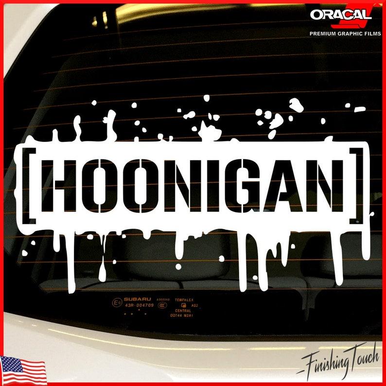Vinyl Car Decals Hoonigan Stickers Pair