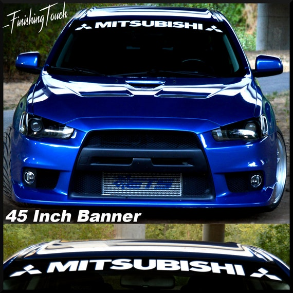 """! Buy Now Eclipse Windshield Banner 4/"""" X 40/"""" Decal Sticker Choose Color"""