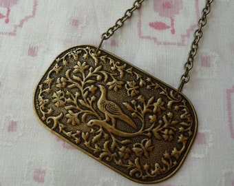 Partridge in a Pear Tree Pendant Necklace