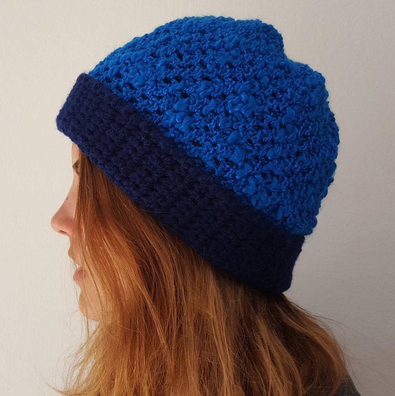 f8aa4ca725192 Women s bluescale hat Winter Hat Blue warm hat