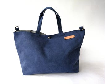 a395030d27 Personalised Blue Washed Canvas Tote bag