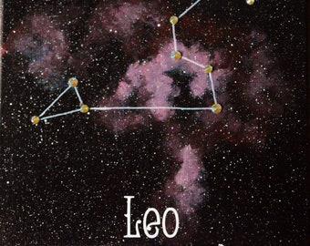 Leo Constellation Painting