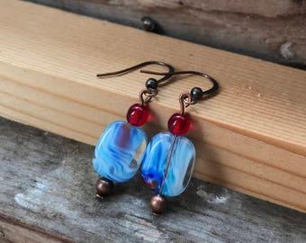 Scarlet Berry Dangle Earrings
