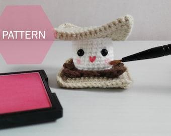 PATTERN, amigurumi s'more pattern, crochet smore plushie PDF pattern instant download