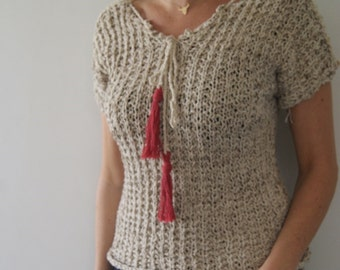 Sweater natural made in france