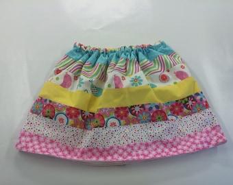 Girl's Pretty in Pink Spring Skirt
