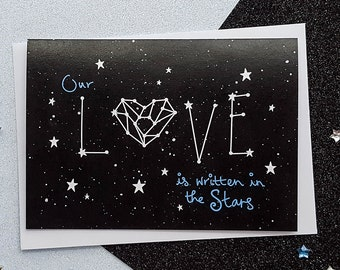 Space love card etsy love constellation card space anniversary card romantic card stars anniversary card constellation cards cards for her cards for him m4hsunfo