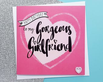 Girlfriend Birthday Card Romantic Gorgeous For