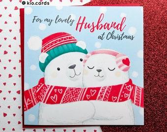 Wonderful husband christmas card romantic christmas card etsy husband christmas card romantic christmas card one i love christmas husband card polar bears card christmas together christmas love m4hsunfo